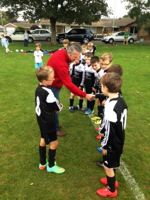 Meeting the U9 boys on Sat 13th September